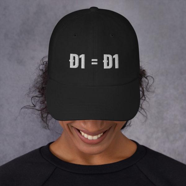 classic dad hat black front 60bb82665147f