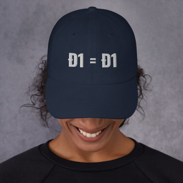 classic dad hat navy front 60bb826651613